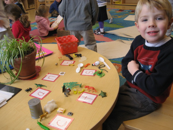 Our students begin phonic awareness early and enjoy our classroom works