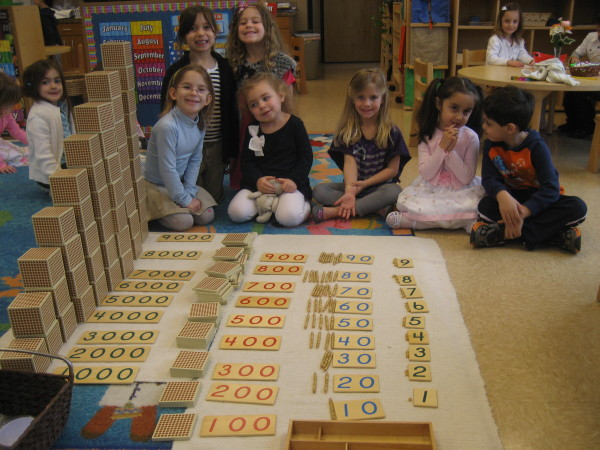 Our students learn the numeral + quantity recognition  from 1 to 9,000