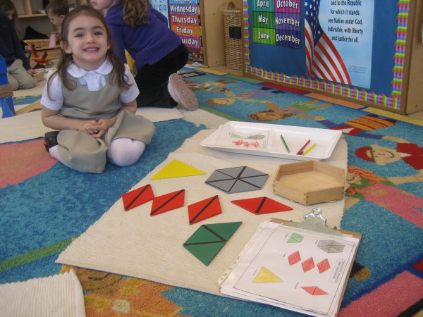 Children enjoy learning the constructive triangles